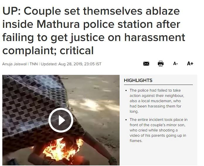 Video of Couple's Self-Immolation Falsely Shared as Dalit Atrocity