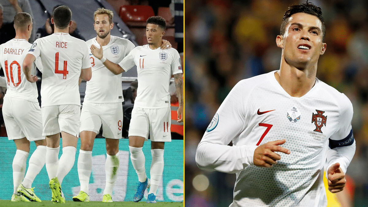 England made it four wins out of four in Group A with a 5-3 win over Kosovo while Ronaldo netted four goals vs Lithuania.