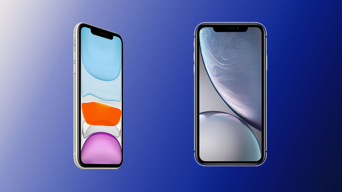 The iPhone 11 (left) and the iPhone XR (right) – both phones' prices have been reduced after the iPhone 12 was launched, on 13 October.