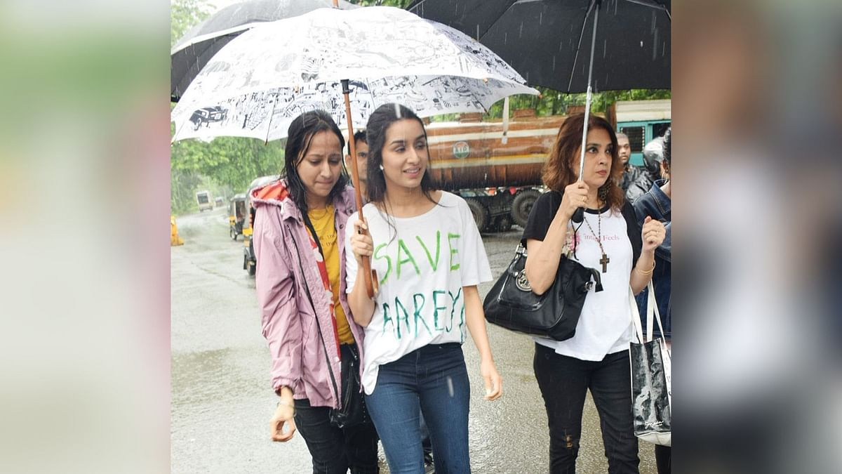 Pics: Shraddha Protests Against Felling of Aarey Colony Trees