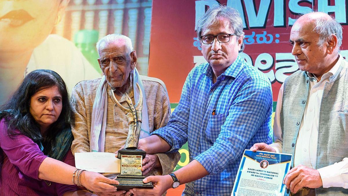 Magsaysay awardee Ravish Kumar is the recipient of the first Gauri Lankesh Memorial Award for Journalism.