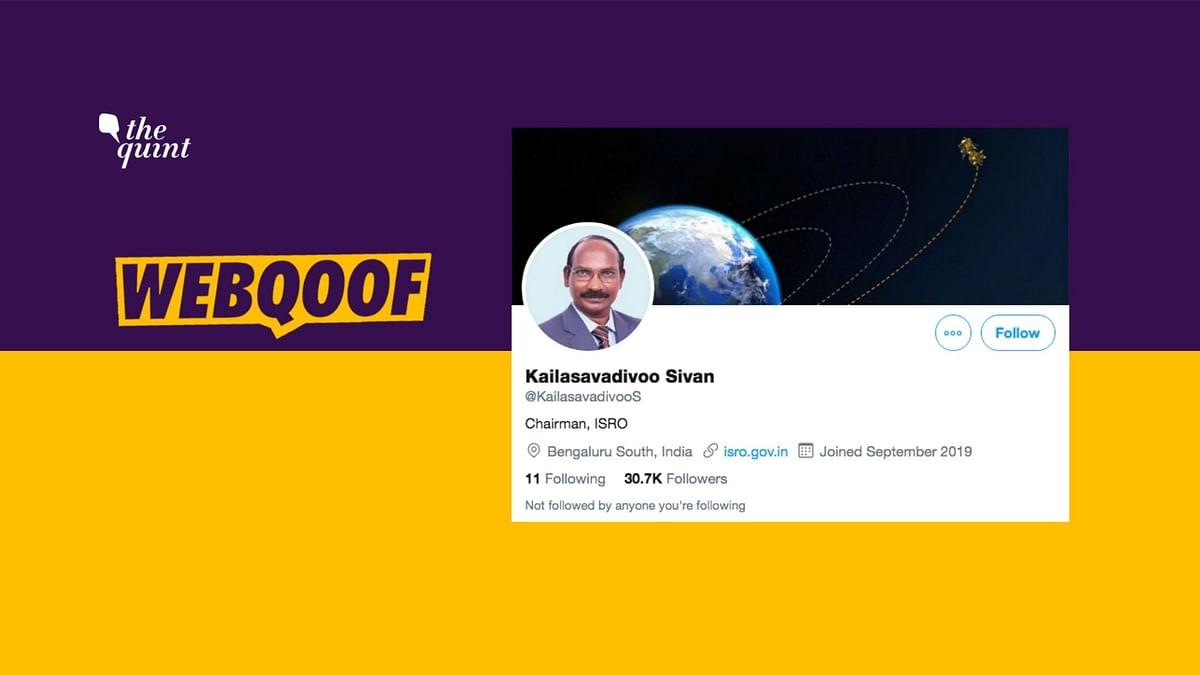 Chandrayaan-2: Fake Twitter Handles of ISRO Chief K Sivan Mushroom
