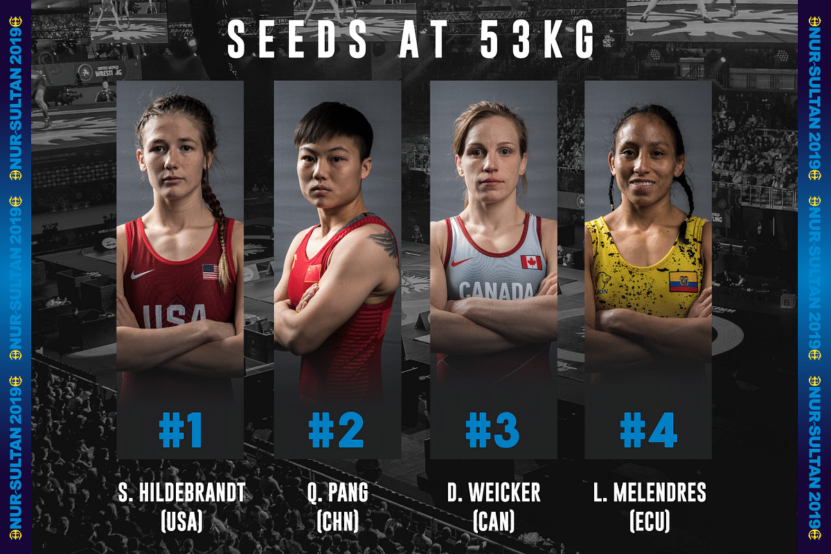 A look at the four seeded wrestlers in Vinesh's category at the 2019 World Championships.