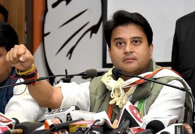 Congress leader Jyotiraditya Scindia.