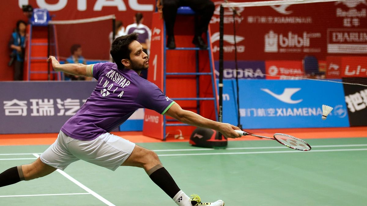 Parupalli Kashyap has been knocked out of the Korea Open in the semi-finals.
