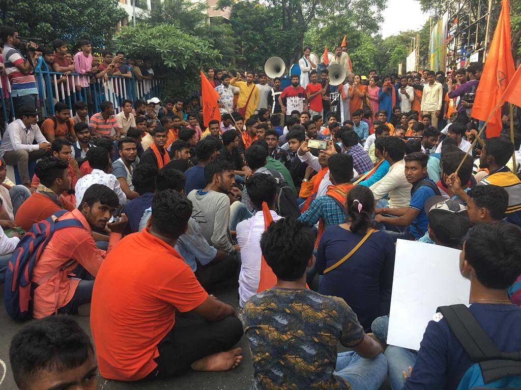 ABVP Ends Demonstration After Failing to Enter Jadavpur University