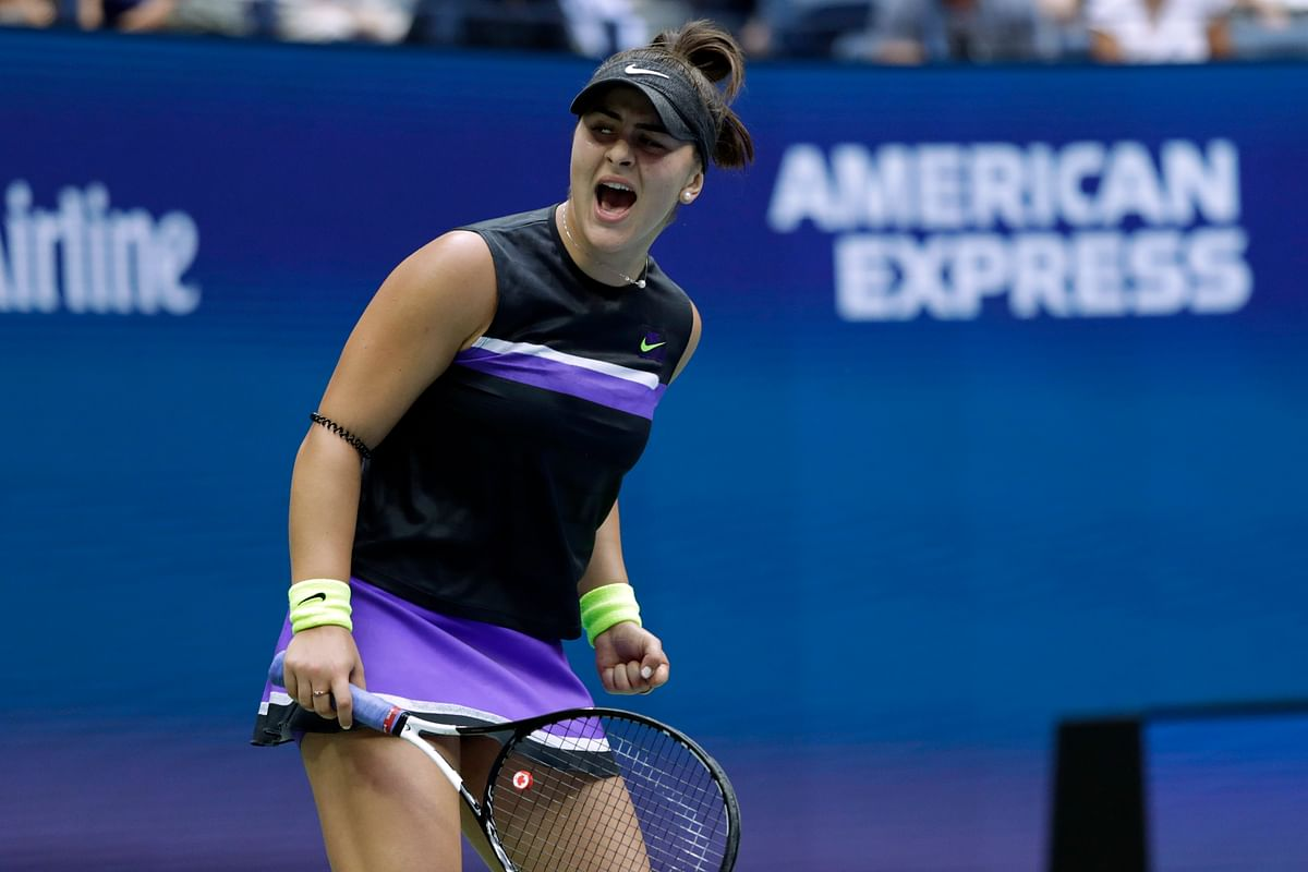 Bianca Andreescu is the first woman to win the trophy at Flushing Meadows in her tournament debut in the Open era