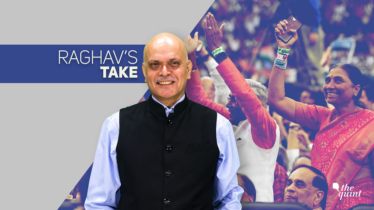 Image of Indian-Americans at the 'Howdy, Modi' event at Houston on Sunday, and the image of the author, Raghav Bahl (centre), used for representational purposes.