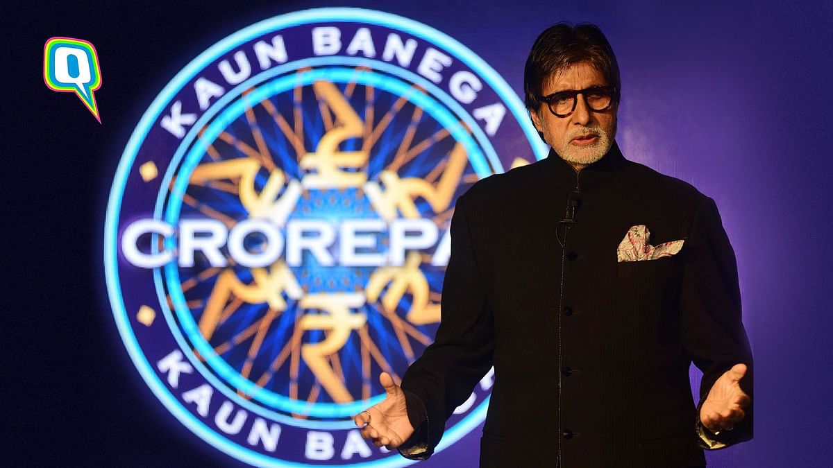 Amitabh Bachchan on the KBC 11 set.