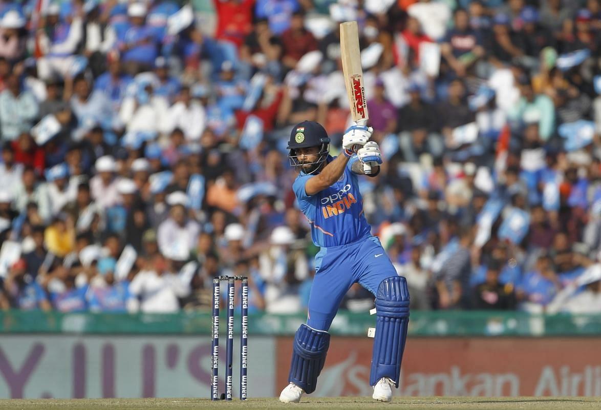 Virat Kohli during an ODI between India and Australia at Mohali.