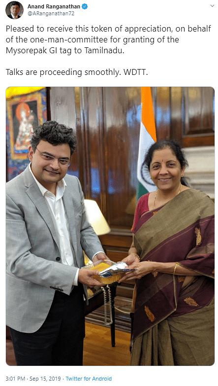 Has Mysore Pak GI Tag Been Granted to Tamil Nadu? Media Misreports