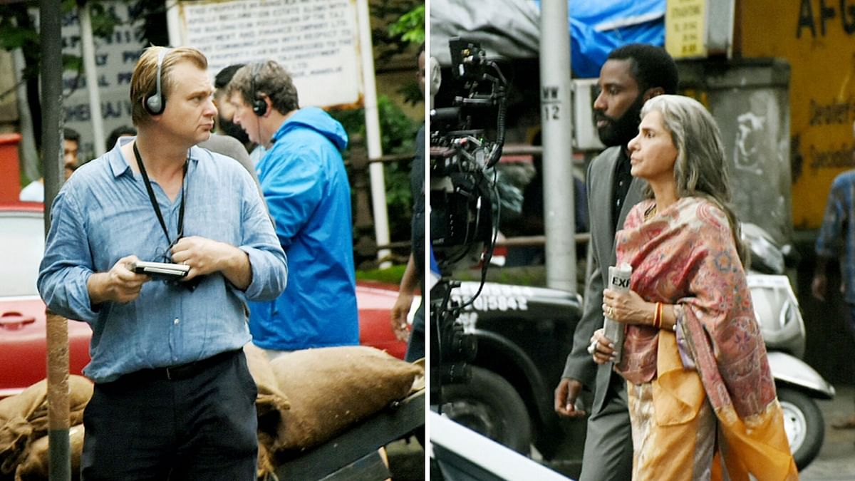 Pics: Nolan, Dimple Kapadia Shoot for 'Tenet' in Mumbai