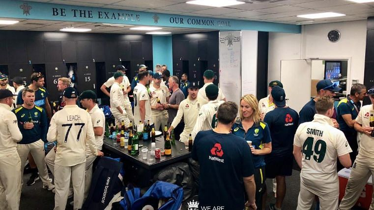 Australia and England cricketers post the conclusion of the 2019 Ashes Test series.