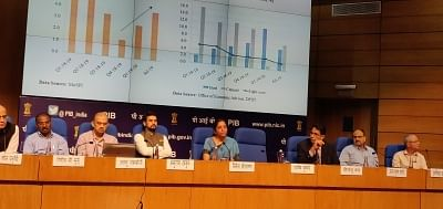 New Delhi: Union Finance and Corporate Affairs Minister Nirmala Sitharaman addresses a press conference at National Media Centre in New Delhi, on Sep 14, 2019. (Photo: IANS)
