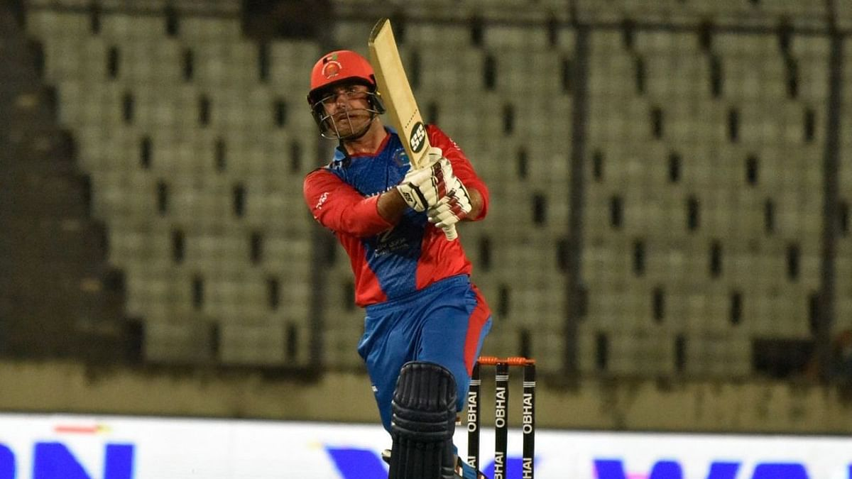Nabi was dismissed off the last ball for 38 off 18 balls.