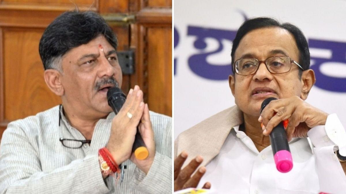 DK Shivakumar and P Chidambaram.