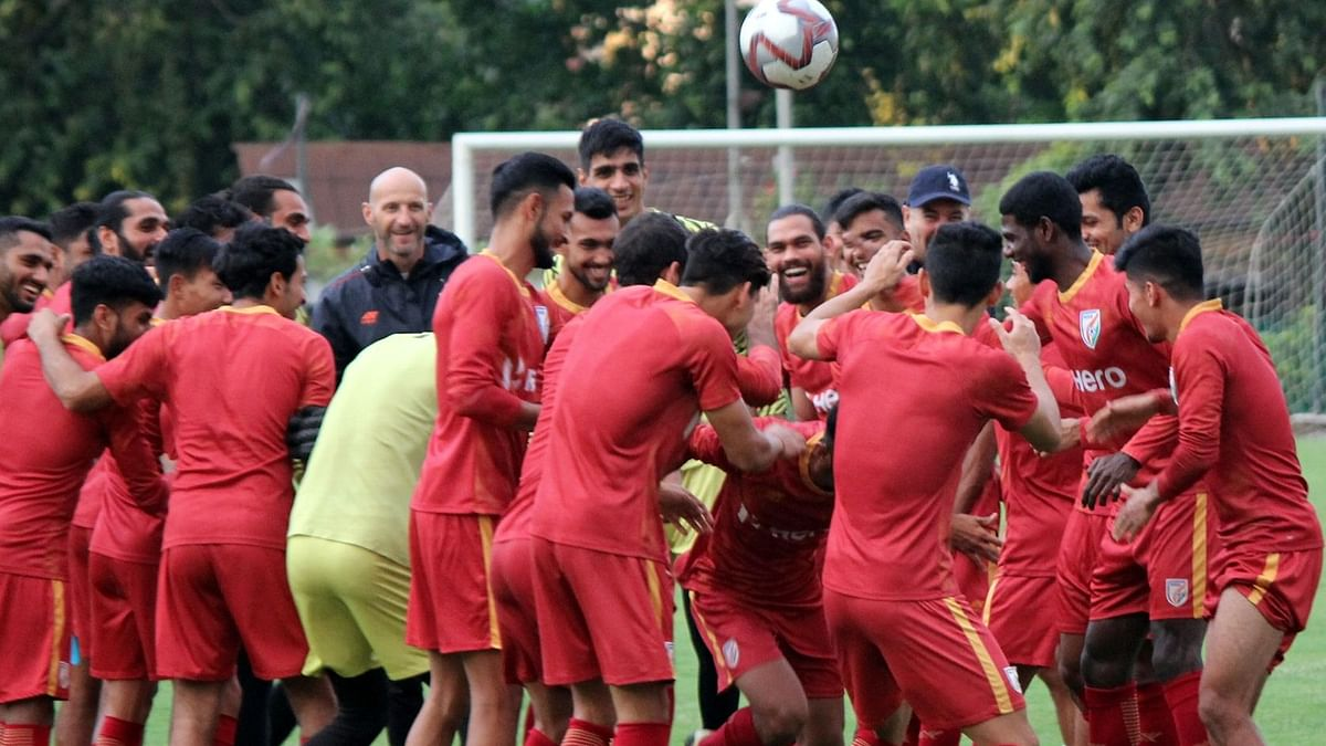 The Indian men's football team play Qatar in a World Cup qualifying match on Tuesday night.