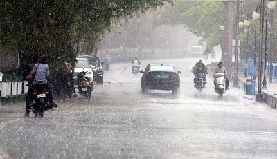 Bhopal: Rains lash Bhopal on June 14, 2019. (Photo: IANS)