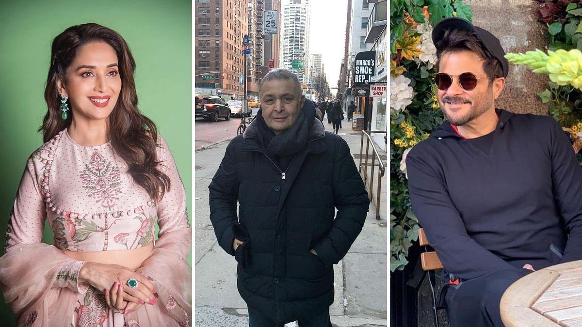 Madhuri, Anil Kapoor, Juhi Chawla Send Birthday Wishes to Rishi