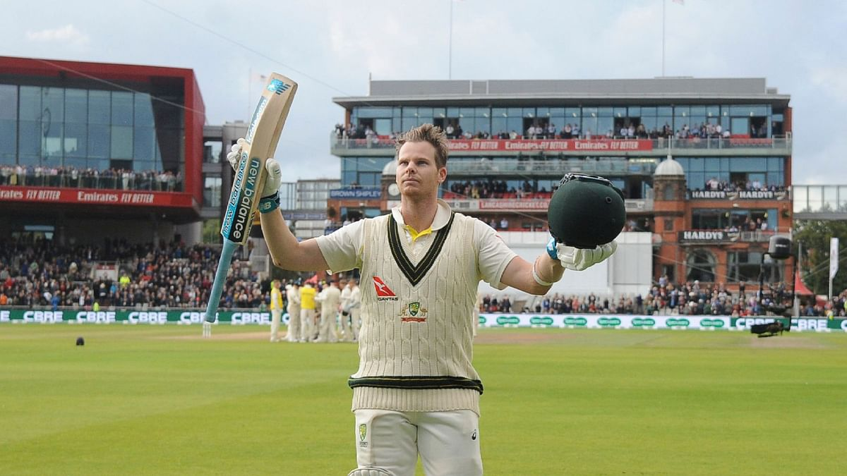 Steve Smith's 211 was the centrepiece of Australia's 497/8 declared on the second day of the fourth Test.