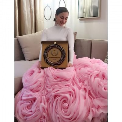Actress Elli AvrRam says she is on cloud nine after bagging the Breakthrough Bollywood Artist of 2019 award at the India International Excellence Awards (IIEA) held in Dubai.