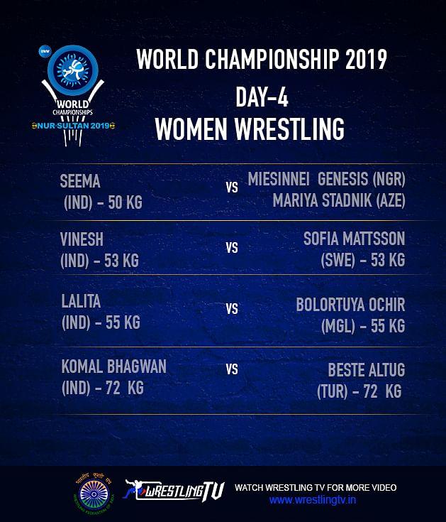 Focus on Vinesh as Women Wrestlers Start World C'ships Campaign