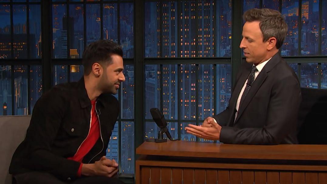 Hasan Minhaj on <i>Late Night with Seth Meyers</i>.