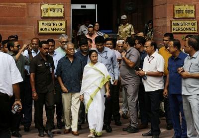 Mamata cries 'political vendetta' at reporter's question