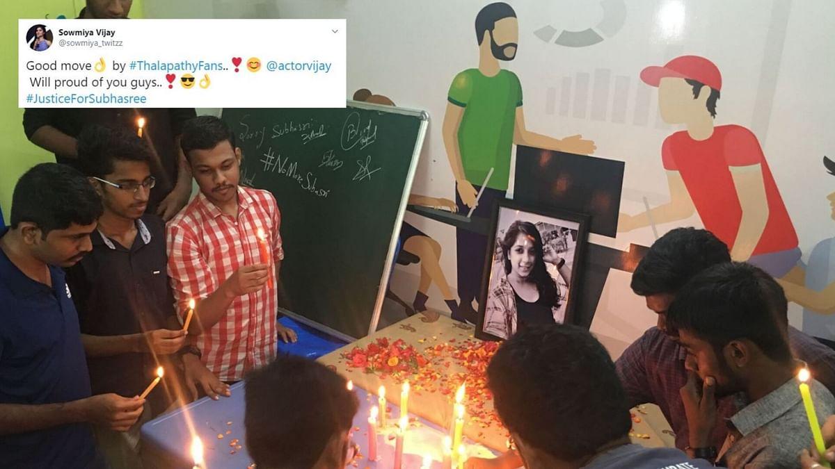 #JusticeforSubhashree Trends As Kamal Haasan, Vijay Slam Banners