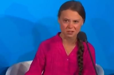 New York: Swedish teenage climate activist Greta Thunberg addresses during the Climate Action Summit 2019 at the 74th session of the UN General Assembly (UNGA 74) at United Nations on Sep 23, 2019.