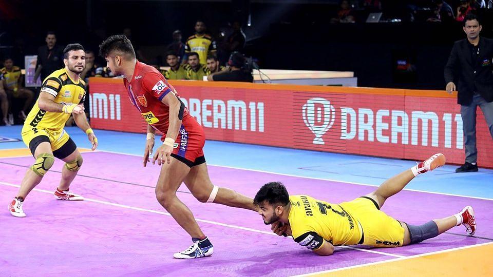PKL: Naveen Kumar Stars as Dabang Delhi Beat Telugu Titans 37-29