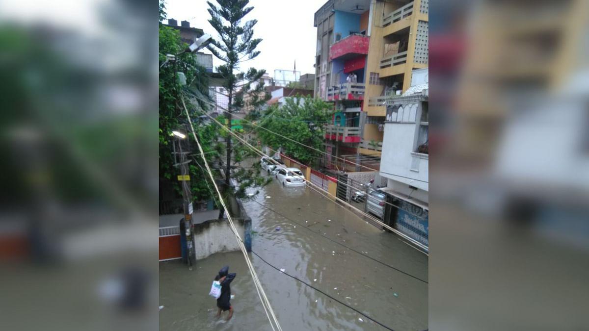 Flooded roads in Bihar's Patna.