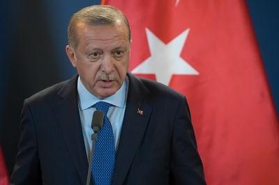 Turkish President Recep Tayyip Erdogan . (Xinhua/Attila Volgyi/IANS)