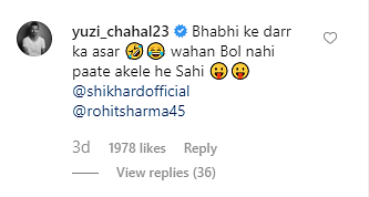 Yuzvendra Chahal's Funny Instagram Comments Leave Fans in Splits
