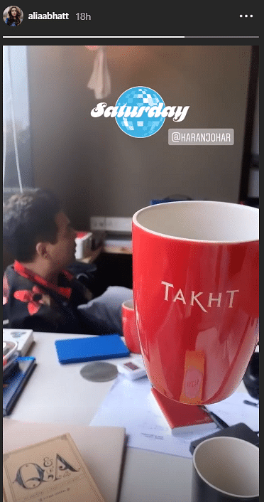 Alia Spends Sunday  Prepping for 'Takht' With Karan Johar