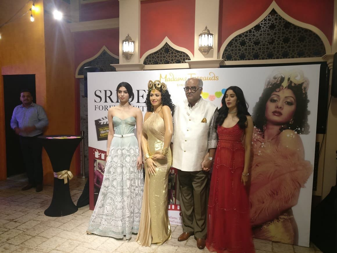 Sridevi's family unveiled her wax statue at Madame Tussauds