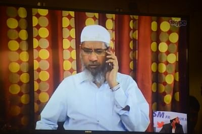 Controversial Islamic preacher Zakir Naik. (Photo: IANS)