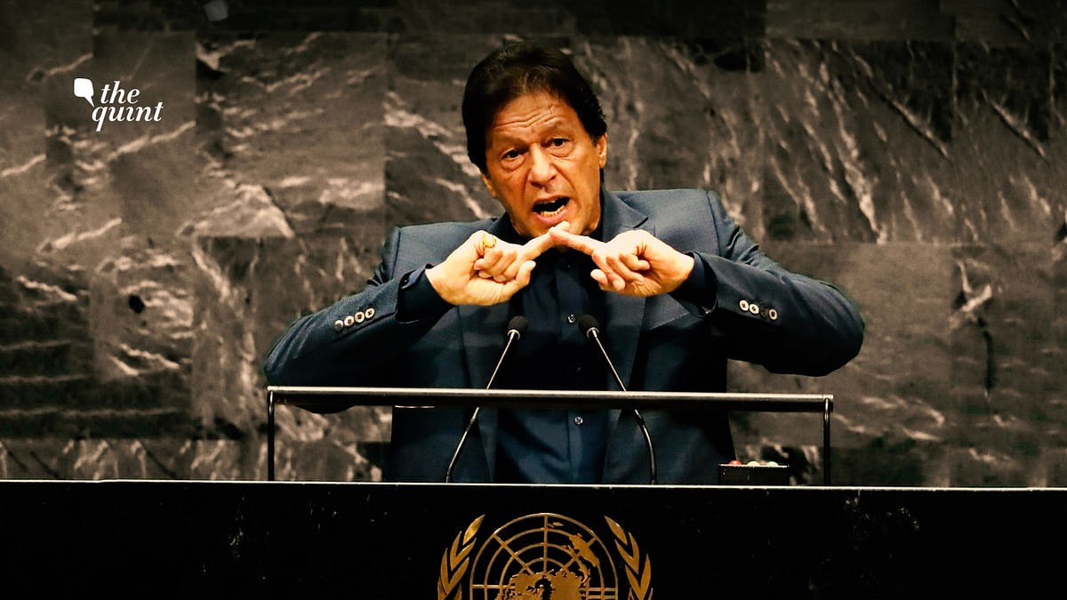 Image of Pakistan PM Imran Khan at the UNGA on 27 September 2019, used for representational purposes.