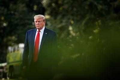 WASHINGTON, Aug. 1, 2019 (Xinhua) -- U.S. President Donald Trump leaves the White House in Washington D.C., on Aug. 1, 2019. (Photo by Ting Shen/Xinhua/IANS)