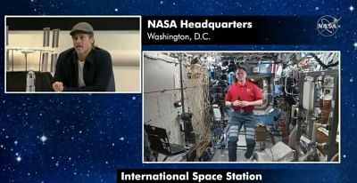 Brad Pitt asks NASA astronaut about Chandrayaan 2