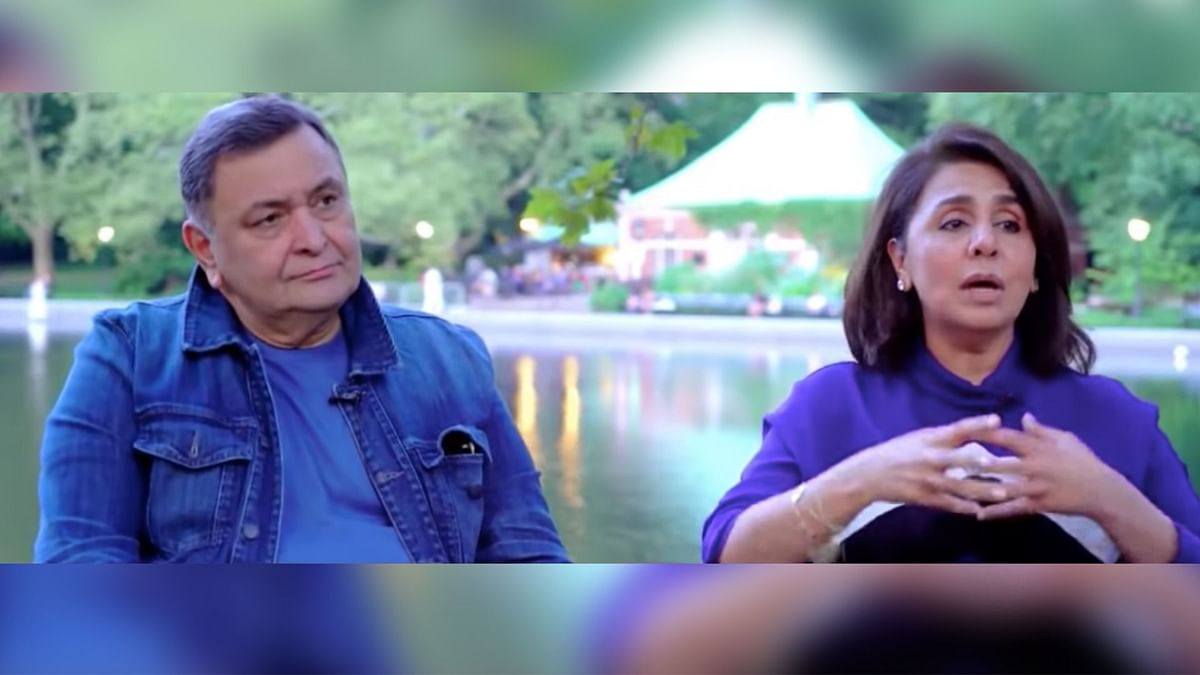 Rishi and Neetu Kapoor in Central Park, NYC.