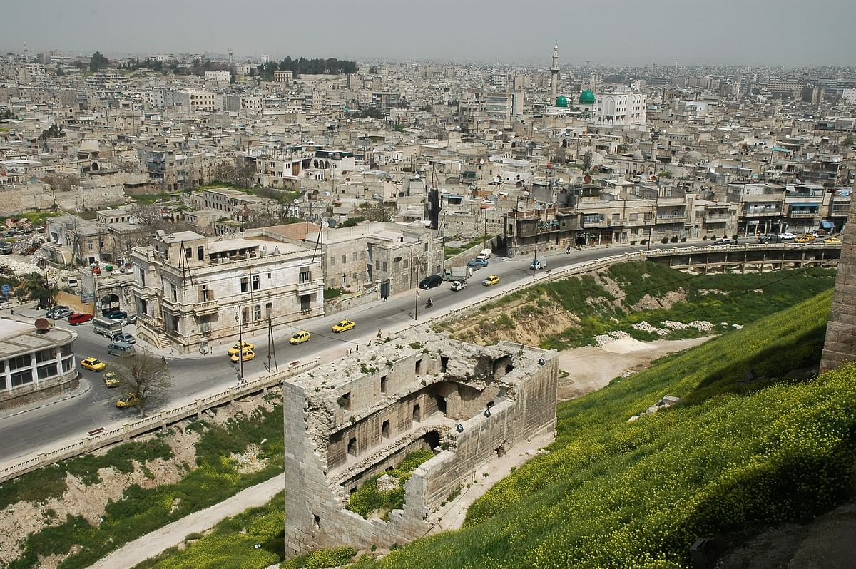View of 5000-year-old Aleppo, world's oldest continually inhabited city.
