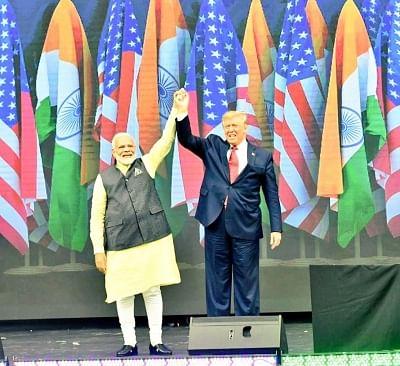 Houston: Prime Minister Narendra Modi and US President Donald Trump during the