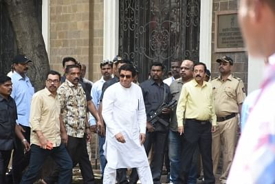 Mumbai: Maharashtra Navnirman Sena (MNS) President Raj Thackeray arrives to appear before the Enforcement Directorate for questioning in a money laundering case pertaining to the beleagured IL&FS, in Mumbai on Aug 22, 2019. (Photo: IANS)