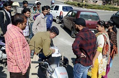 Rs 59,000 challan for traffic violation in Gurugram