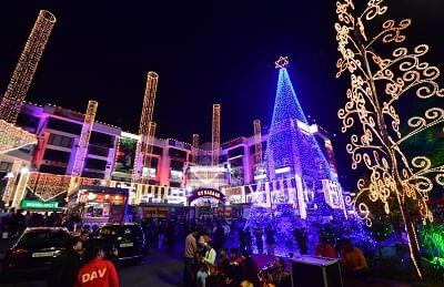 Shopping mall. (Photo: Ravi Shankar Vyas/IANS)