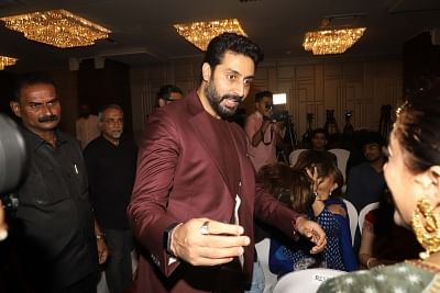 Mumbai: Actor Abhishek Bachchan at the launch of musicians Amaan Ali Bangash, Ayaan Ali Bangash and Karsh Kale