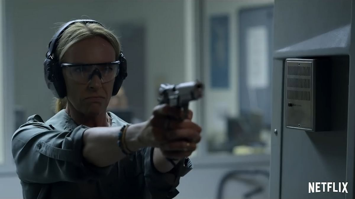 Detective Grace Rasmussen in a still from <i>Unbelievable</i>.
