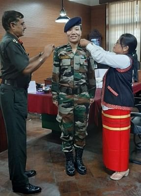 Major Ponung Doming has become the first Army officer from Arunachal Pradesh to achieve the distinction of being elevated to the rank of a Lieutenant Colonel. Doming, a resident of Pasighat in East Siang district of Arunachal Pradesh, had been commissioned into the Indian Army in 2008. She had followed it up with a degree in civil engineering.