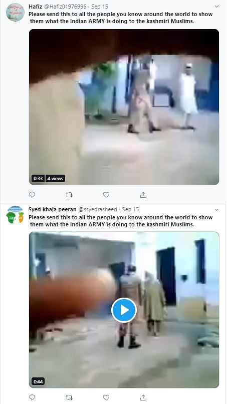 Screenshot shows the viral video.